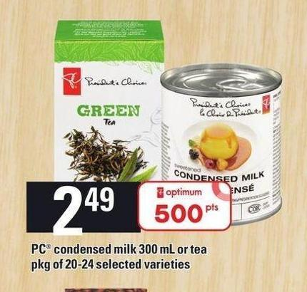 PC Condensed Milk 300 Ml Or Tea Pkg Of 20-24