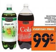 Selection Ginger Ale - Cola Or Club Soda