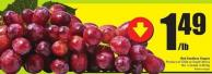 Red Seedless Grapes Product of Chile or South Africa No. 1 Grade 3.28/kg