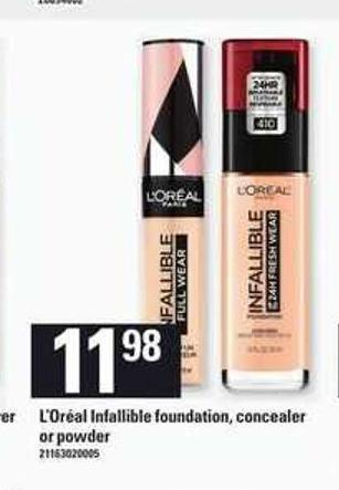 L'oréal Infallible Foundation - Concealer Or Powder