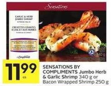 Sensations By Compliments Jumbo Herb & Garlic Shrimp