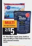 PC Blue Menu Beans - Peas - Lentils Or Soup Mix - 900 G Or Tilda Ready To Heat Rice - 250 G
