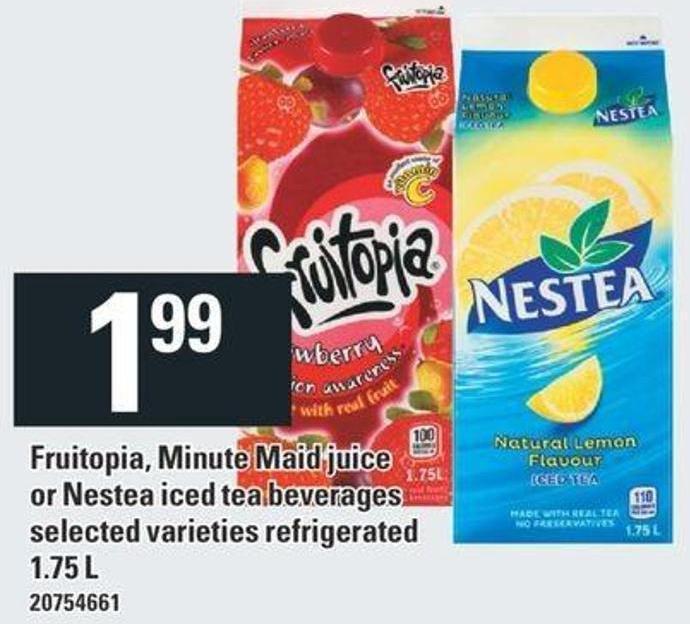 Fruitopia - Minute Maid Juice Or Nestea Iced Tea Beverages - 1.75 L