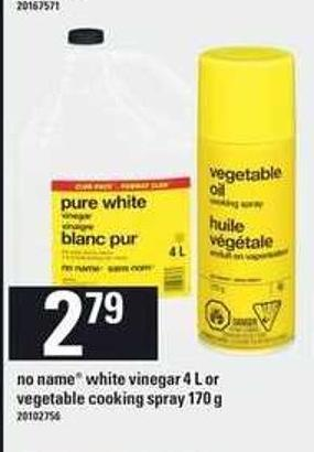 No Name White Vinegar - 4 L Or Vegetable Cooking Spray - 170 G