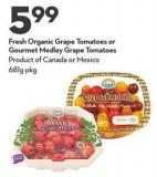 Fresh Organic Grape Tomatoes or Gourmet Medley Grape Tomatoes