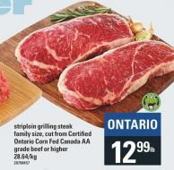 Striploin Grilling Steak Grade Beef Or Higher