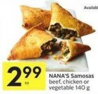 Nana's Samosas Beef - Chicken or Vegetable 140 g