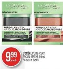 L'oréal Pure-clay Facial Masks 50ml