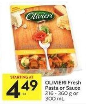 Olivieri Fresh Pasta or Sauce 216 - 360 g or 300 mL