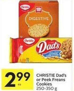 Christie Dad's or Peek Freans Cookies 250-350 g