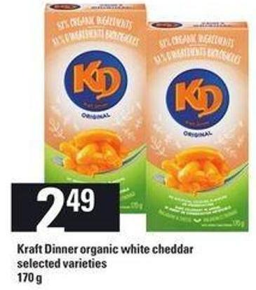 Kraft Dinner Organic White Cheddar - 170 G