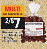 Stock And Barrel Chocolate Almonds - 225-250 G