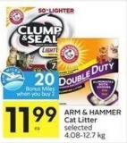Arm & Hammer Cat Litter Selected 4.08-12.7 Kg - 20 Air Miles Bonus Miles