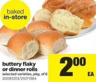 Buttery Flaky Or Dinner Rolls - Pkg of 6