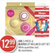 Eos 3-piece or Blistex Lip Wellness Gift Set