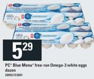 PC Blue Menu Free Run Oméga-3 White Eggs