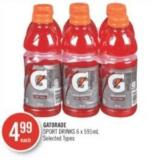 Gatorade Sport Drinks 6 X 591 mL