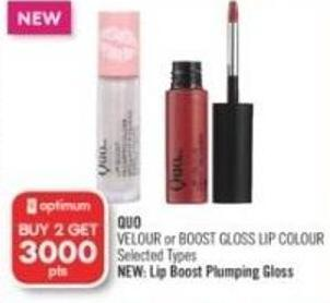 Quo Velour or Boost Gloss Lip Colour