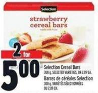 Selection Cereal Bars 300 g