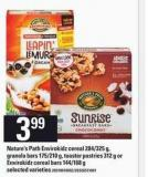 Nature's Path Envirokidz Cereal - 284/325 G Granola Bars - 175/210 G - Toaster Pastries - 312 G Or Envirokidz Cereal Bars - 144/168 G