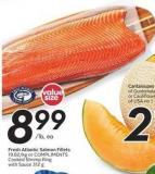 Fresh Atlantic Salmon Fillets or Compliments Cooked Shrimp Ring With Sauce 312 g