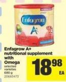 Enfagrow A+ Nutritional Supplement With Omega - 680 g