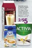 Danone Activia or Natural Yogurt