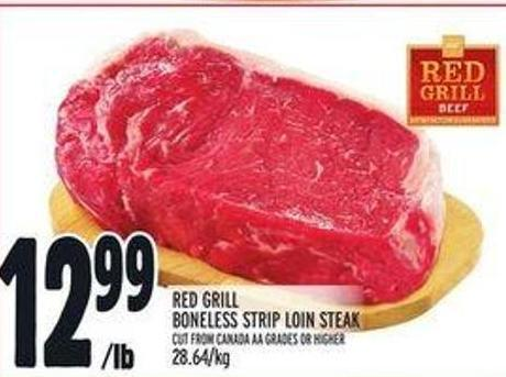 Red Grill Boneless Strip Loin Steak