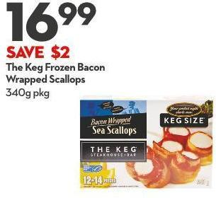 The Keg Frozen Bacon  Wrapped Scallops 340g Pkg