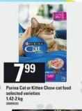 Purina Cat Or Kitten Chow Cat Food - 1.42-2 Kg