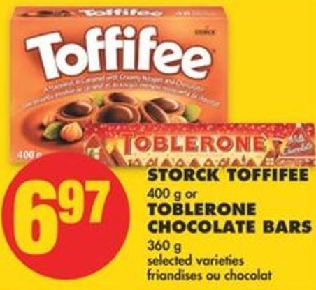 Storck Toffifee - 400 g or Toblerone Chocolate Bars - 360 g