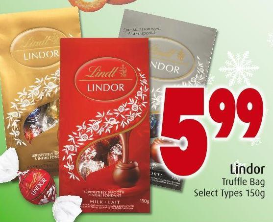 Lindor Truffle Bag Select Types 150g