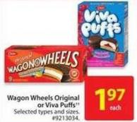 Wagon Wheels Original or Viva Puffs