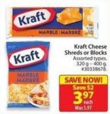 Kraft Cheese Shreds or Blocks