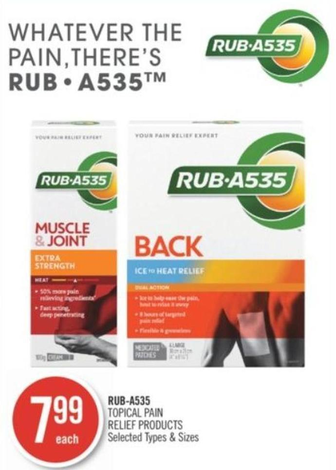 Rub-a535 Topical Pain Relief Products