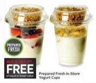 Prepared Fresh In-store Yogurt Cups