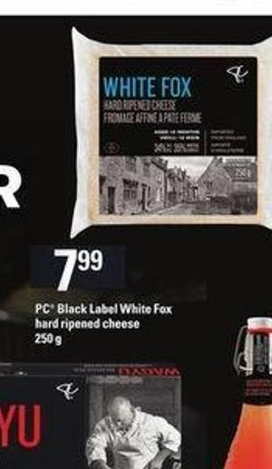 PC Black Label White Fox Hard Ripened Cheese - 250 g