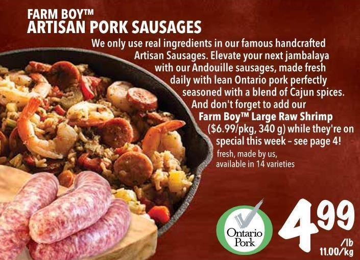 Farm Boy Artisan Pork Sausages