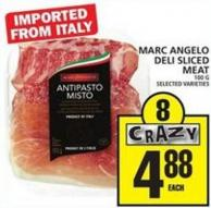 Marc Angelo Deli Sliced Meat