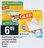 Glad Kitchen Catchers Or Compostable Bags - 10-52's