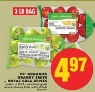 PC Organics Granny Smith or Royal Gala Apples - 3 Lb Bag