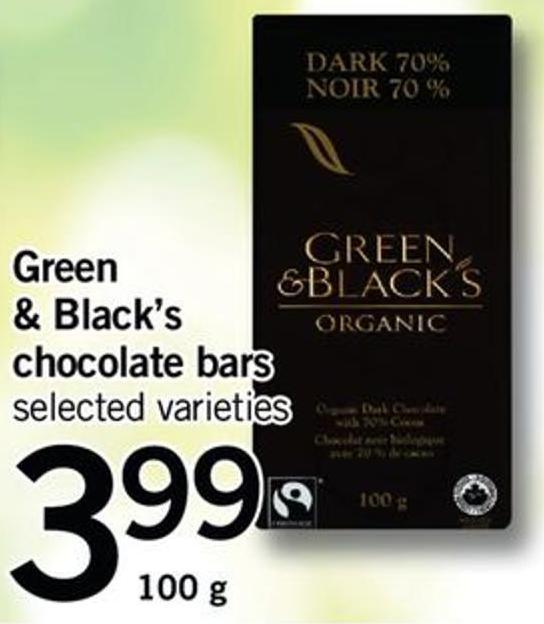 Green & Black's Chocolate Bars - 100 G