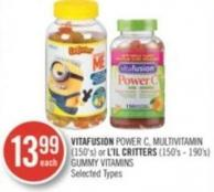 Vitafusion Power C - Multivitamin (150's) or L'il Critters (150's - 190's) Gummy Vitamins