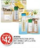 Reversa Urban Protection (Spf30) - Anti-wrinkle (Spf15 or Sp30) Sun Care Set