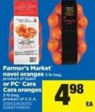 Farmer's Market Navel Oranges - 5 Lb Bag - Or PC Cara Cara Oranges - 3 Lb Bag