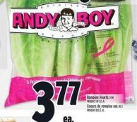 Andy Boy Romaine Hearts 3 Pk