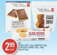 PC Cookie Chips (170g) - Concerto (240g) or Digestive Cookies (300g - 400g)