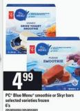 PC Blue Menu Smoothie Or Skyr Bars - 6's