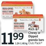 PC Rich & Chewy Or Dipped Granola Bars - 1.24-1.46 Kg