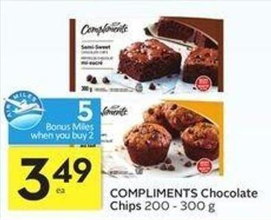 Compliments Chocolate Chips - 5 Air Miles Bonus Miles